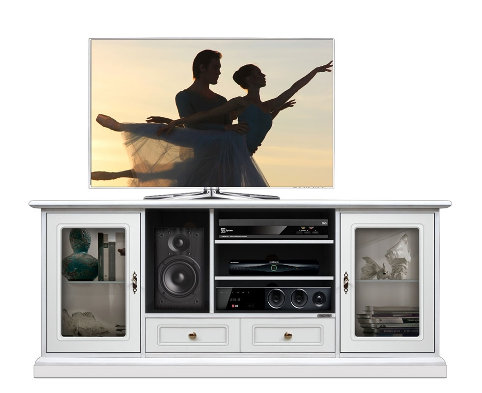 Mueble tv puertas vitrinas Home Cinema