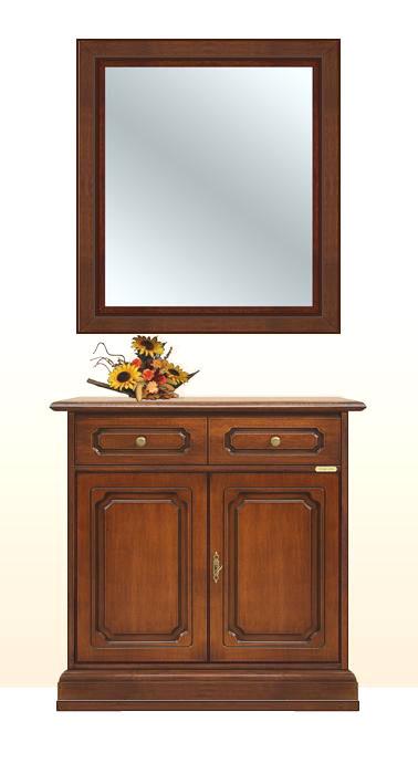 Aparador con espejo en madera maciza