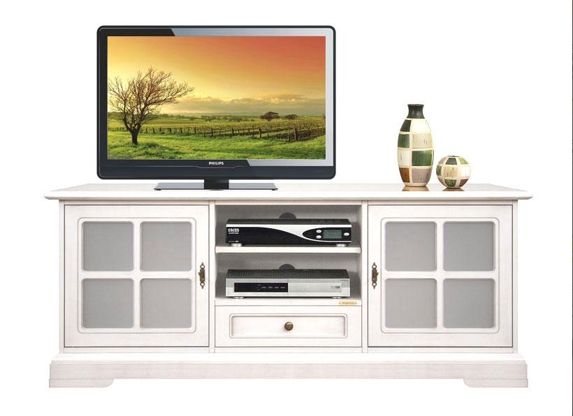 Mueble tv bajo en madera estilo clásico