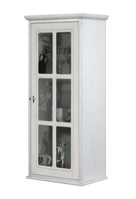 Vitrina de pared 1 puerta madera y vidrio