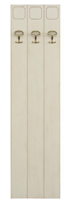 Perchero en madera por recibidor blanco
