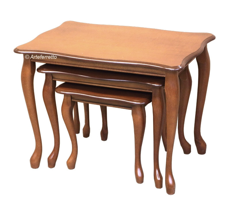 Trío mesas de apoyo de estilo clásico