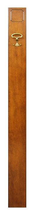 Tablero de madera con gancho por entrada