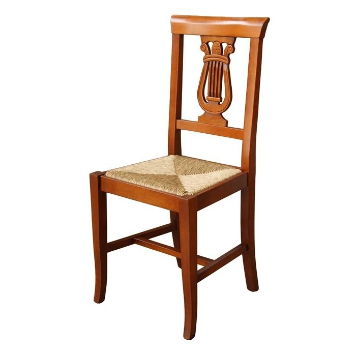 Silla Lira con asiento en paja