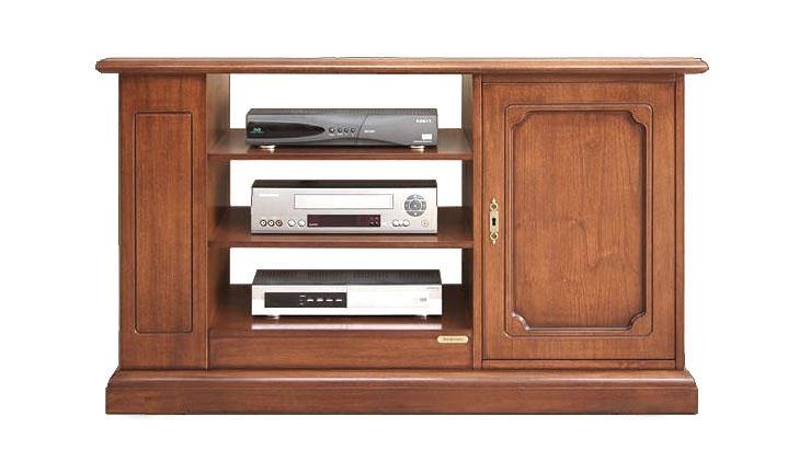 Mueble tv estantes 1 puerta en madera