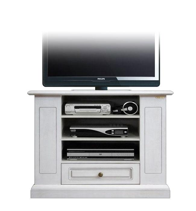 Mueble de tv en madera vanos y cajón Essenziale Plus