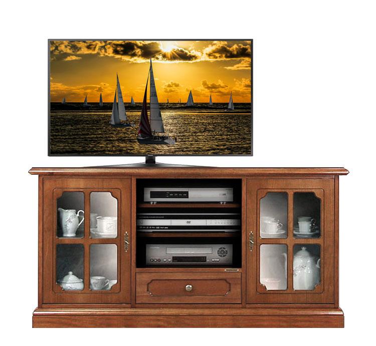 Mueble tv aparador vitrina en madera de primera calidad