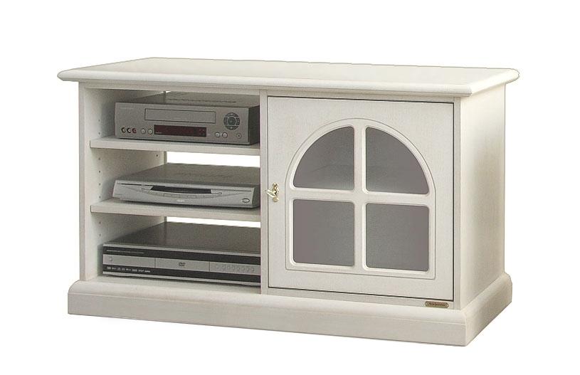 Mueble de tv estilo clásico puerta vitrina lateral