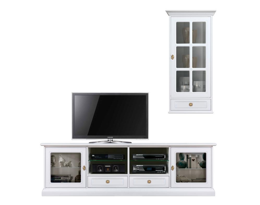 Mueble de pared modular de tv 2m