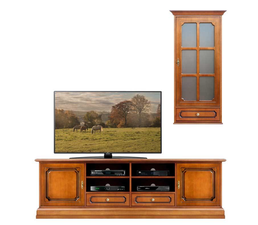 Mueble tv de pared estilo clásico anchura 2 m