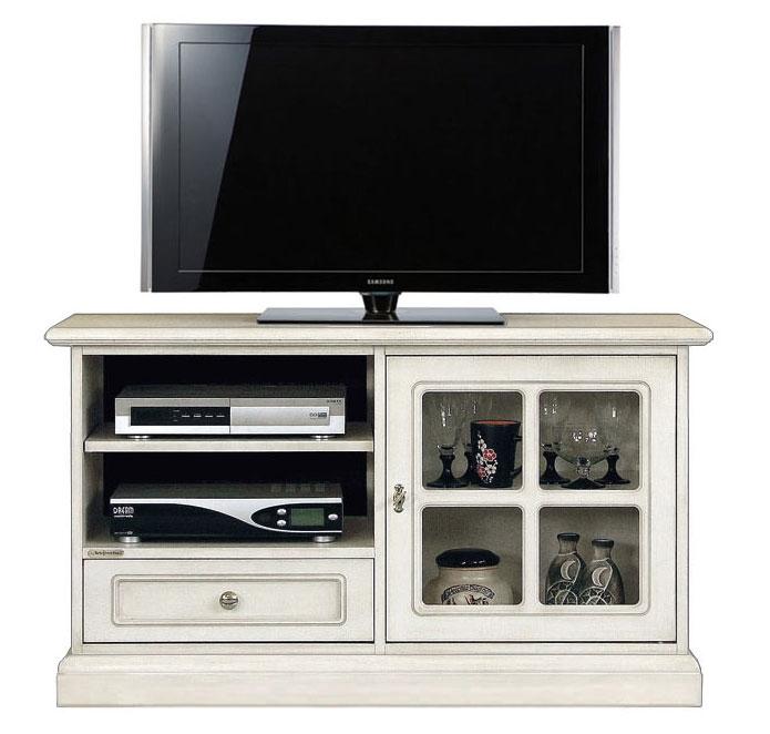 Mueble de tv acabado blanco estilo clásico England