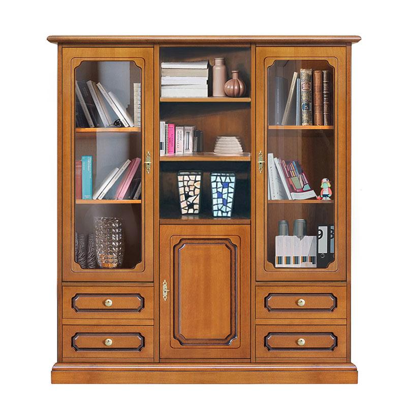 Mueble vitrina de salón estilo clásico