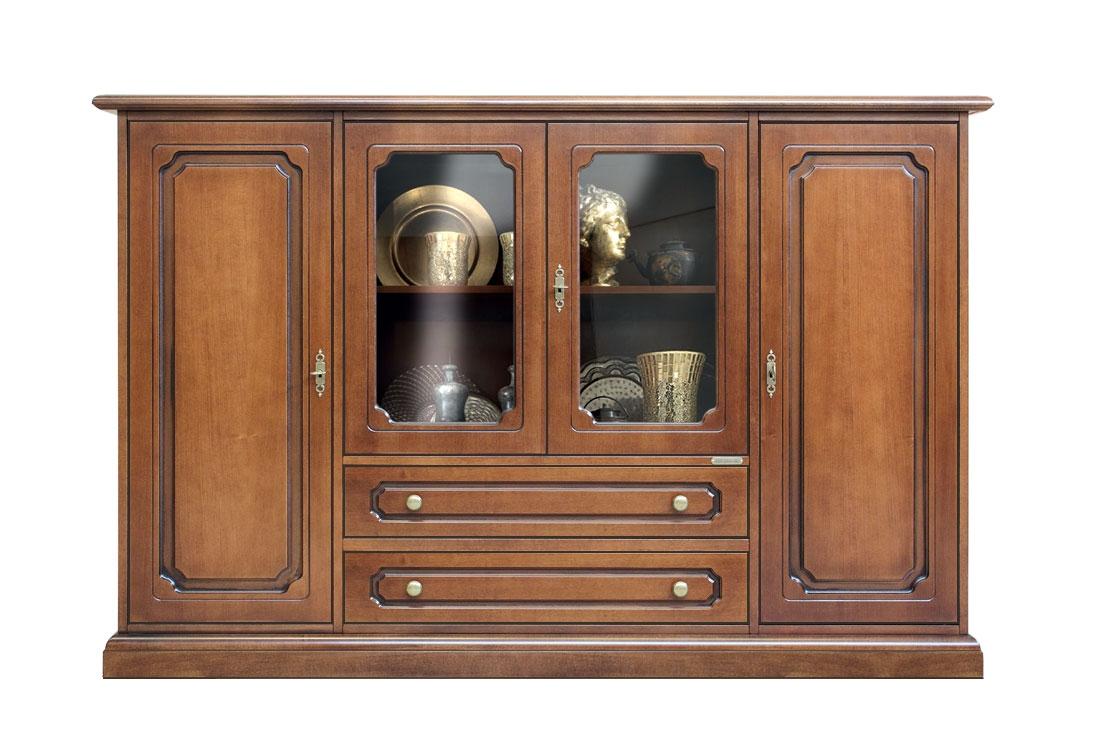 Aparador en madera estilo clásico 4 puertas para cocina o salón