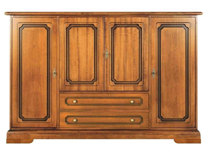 Aparador grande puertas y cajones en madera