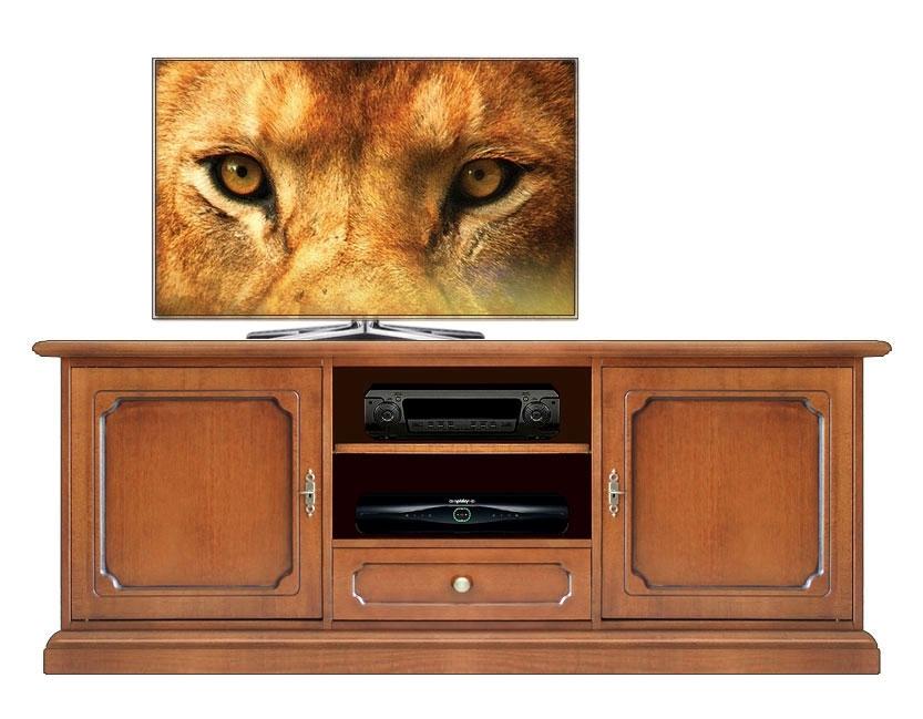 Mueble tv resistente en madera de artesanado italiano