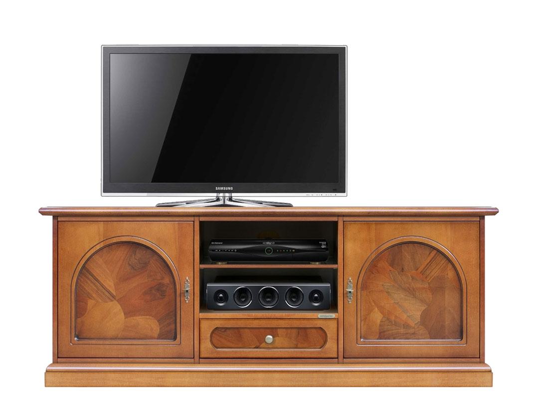 Mueble tv con raíz 150 cm en madera