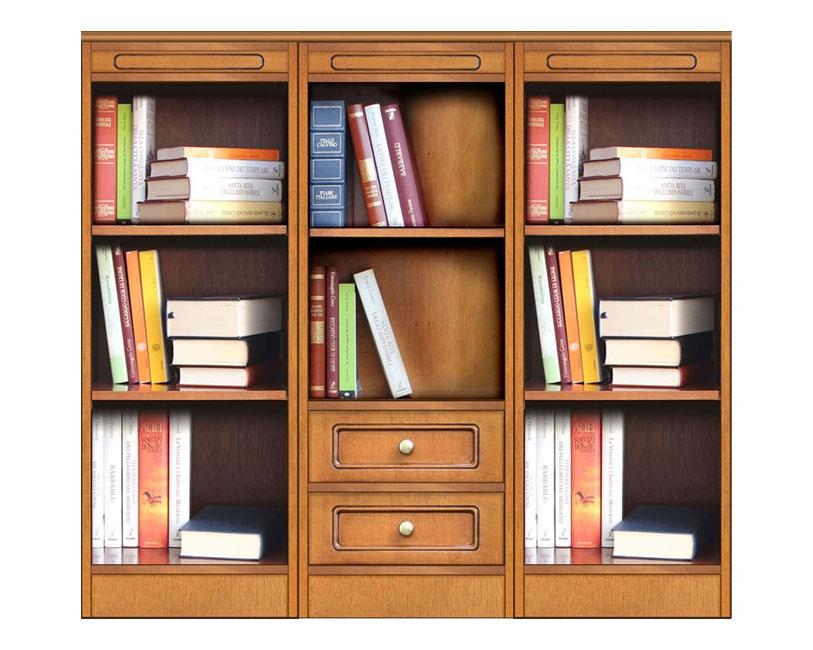 Librería baja dos cajones - Colección Compos