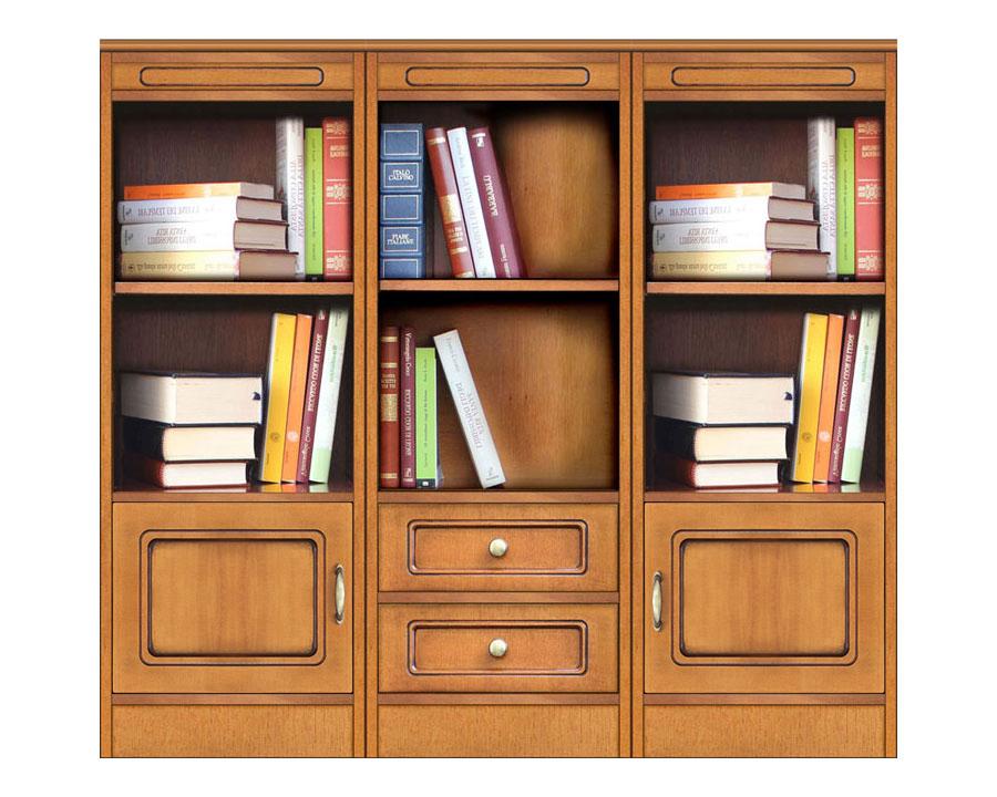 Librería baja 3 módulos - Colección Compos
