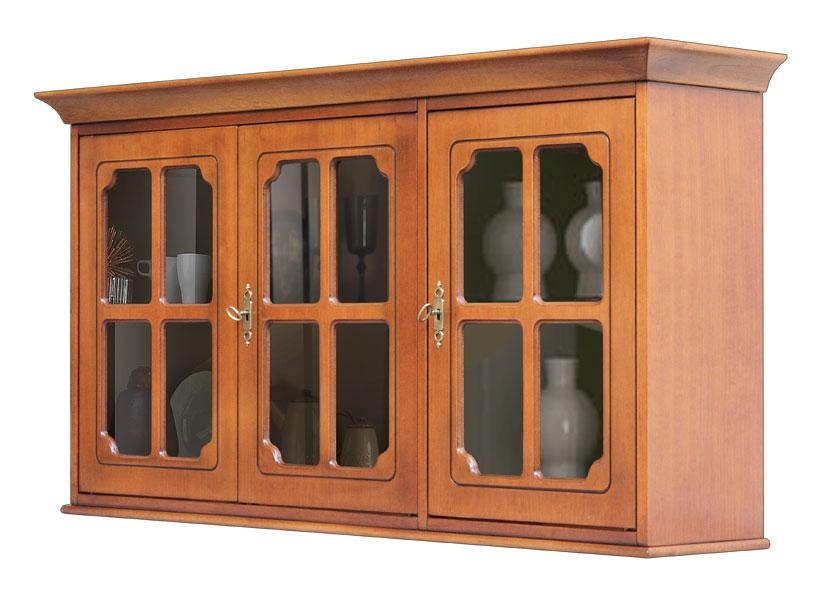 Vitrina colgante 3 puertas en estilo clásico
