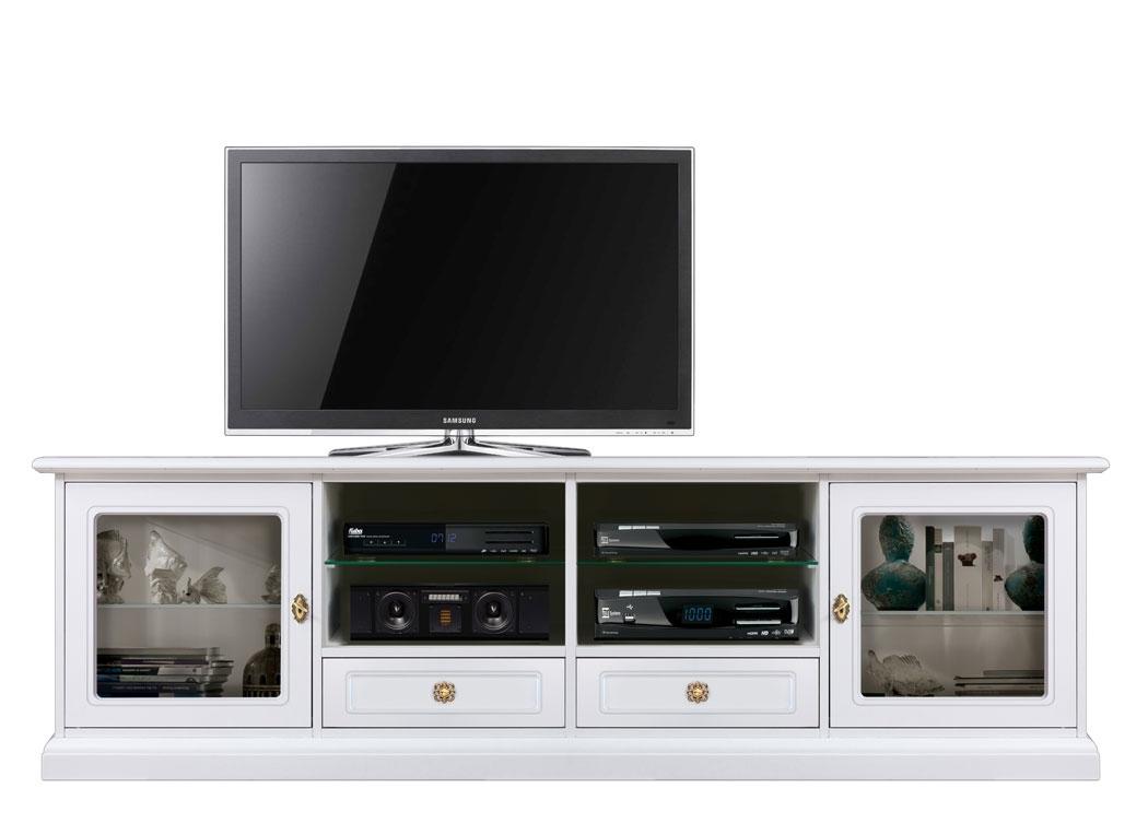Mueble tv laqueado blanco Simple line