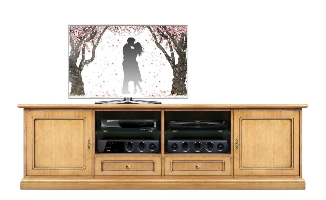 Mueble tv vanos centrales y vitrinas laterales Vision