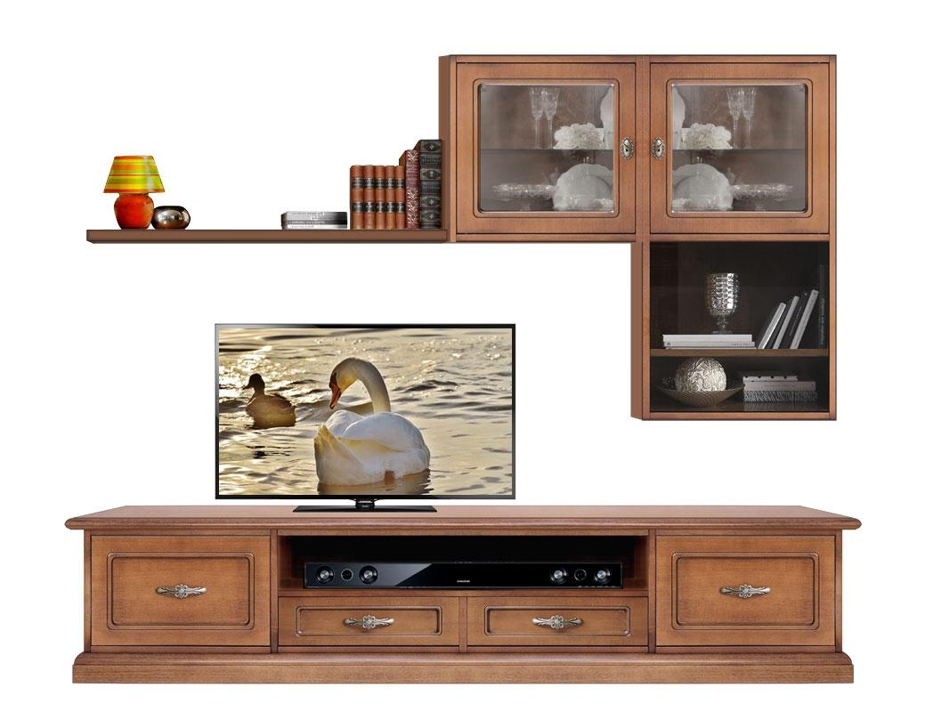 Mueble de pared de artesanado italiano en madera Charming style