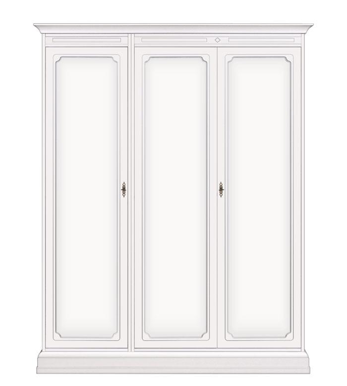 Armario modular laqueado blanco 3 puertas
