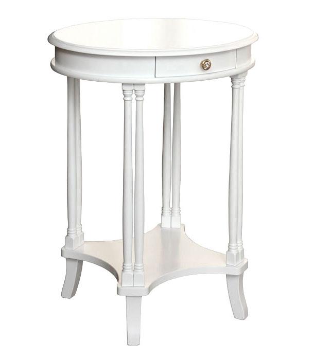 Mesa de salón ovalada con pequeño cajón