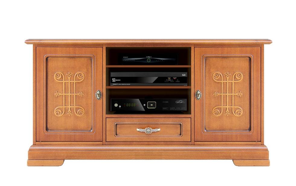 Mueble tv con frisos en madera cm 130 - Colección YOU
