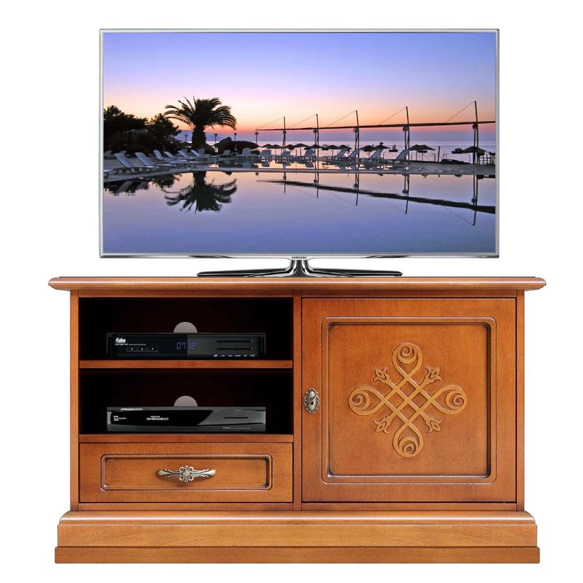 Mueble tv frisos acabado madera - Colección You