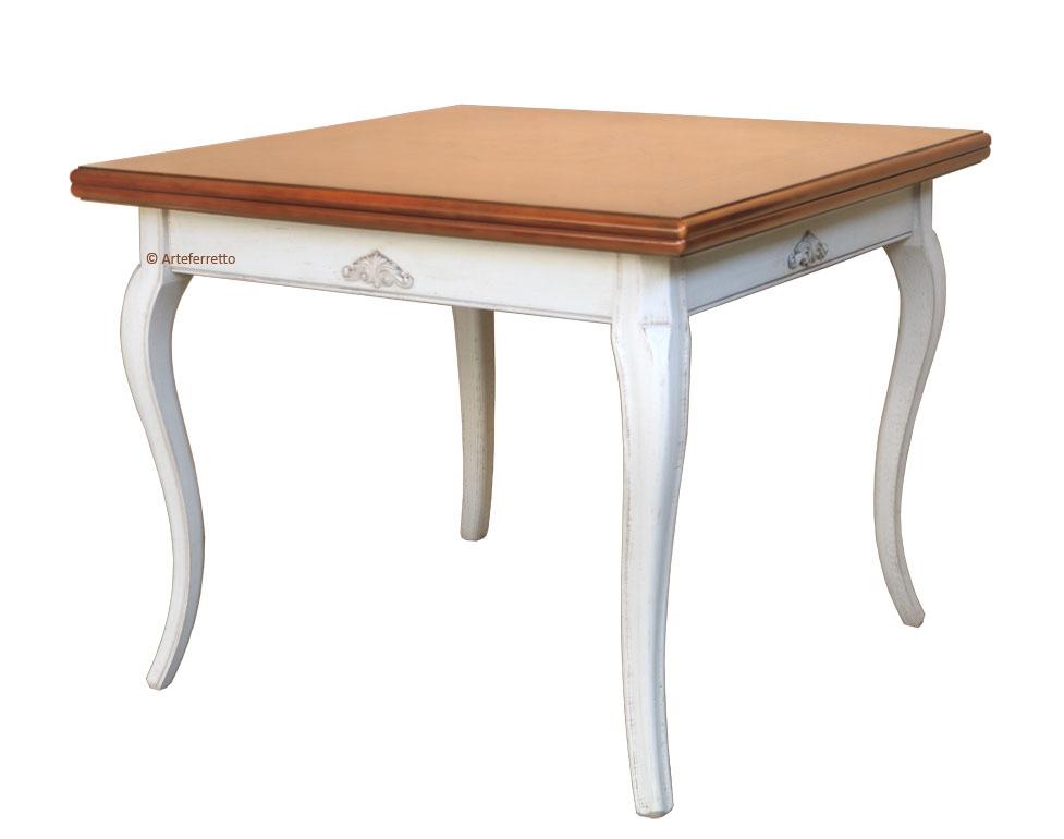 Mesa de comedor extensible con marqueterías 100-200 cm