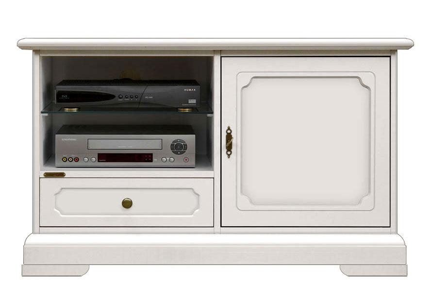 Mueble tv aparador laqueado blanco multifuncional
