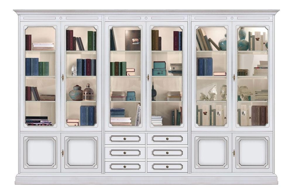 Mueble-vitrina de pared con puertas y cajones