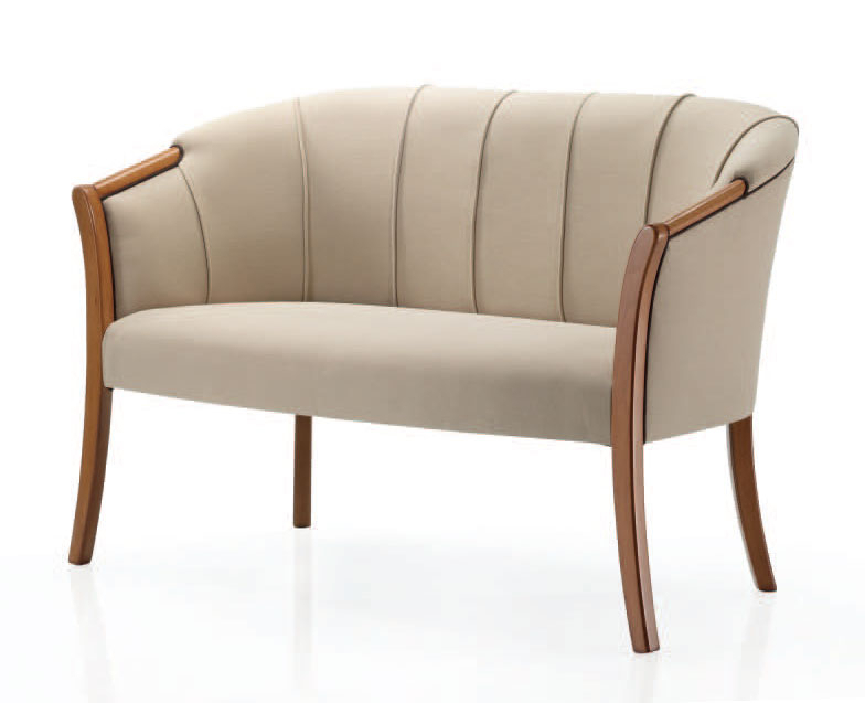 Sofa de forma concha