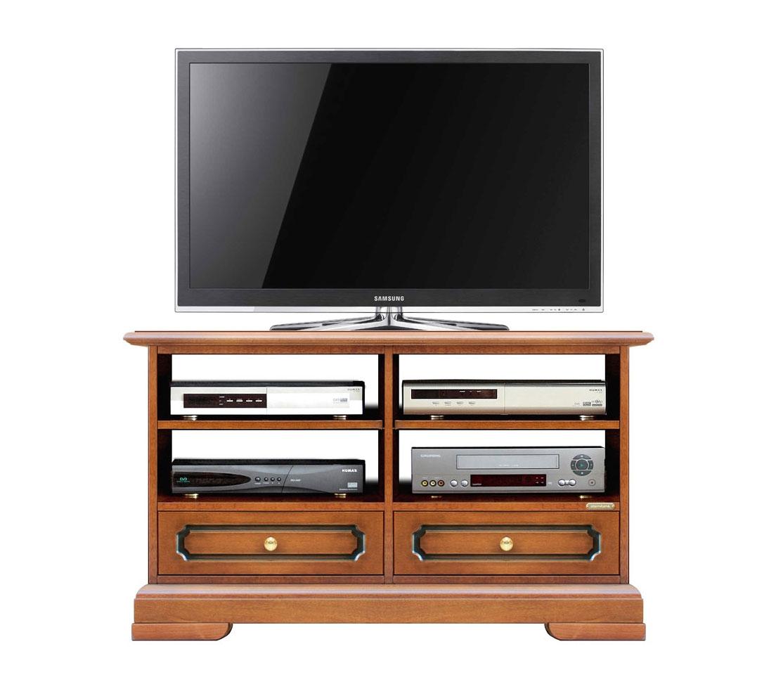 Mueble tv cajones y vanos anchos en madera