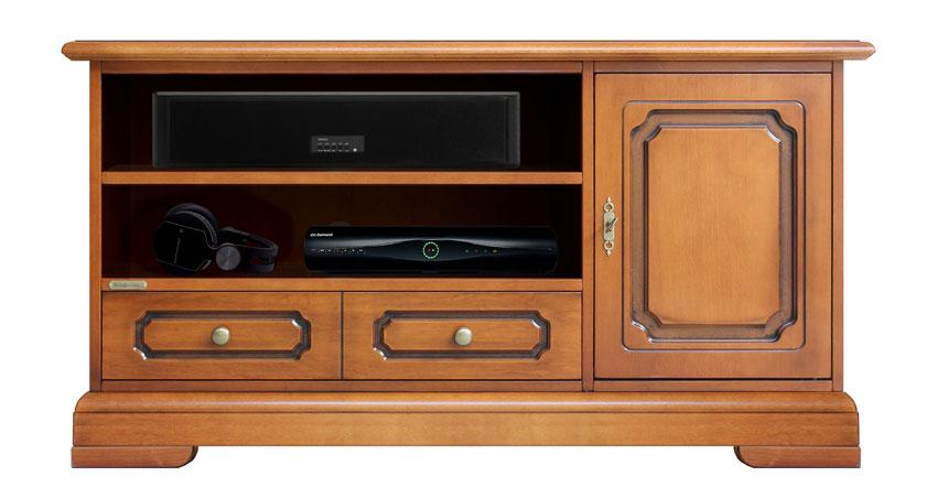Mueble de tv vanos anchos y zócalo abierto Supervan Plus