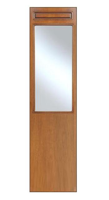 Espejo por recibidor o entrada en madera de artesanado