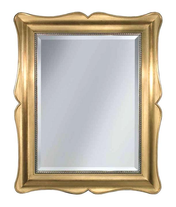 Espejo clásico moldeado en pan de oro