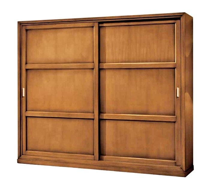 Armario puertas correderas en resistente madera de tilo