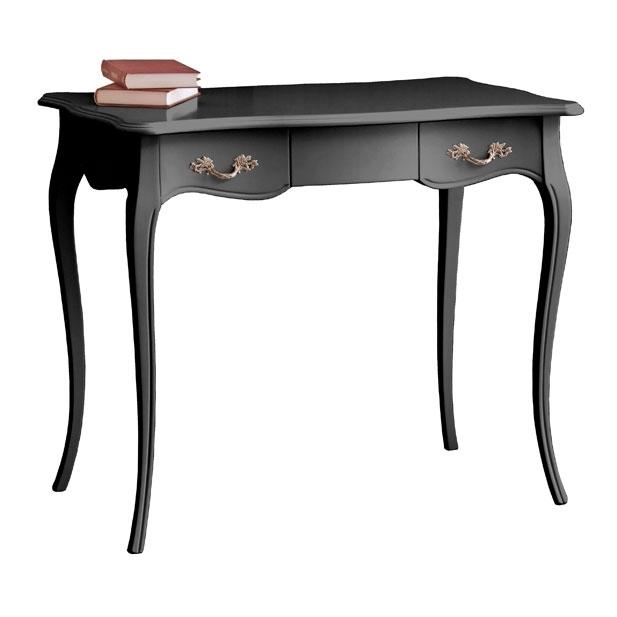 Mesa de despacho laqueado negro patas moldeadas Cavallino Hobbit