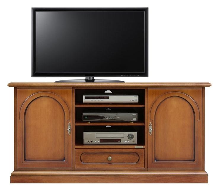 Mueble tv puertas madera estilo clásico artesanado italiano