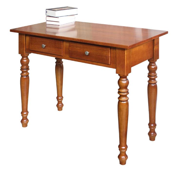 Mesa de despacho dos cajones en madera