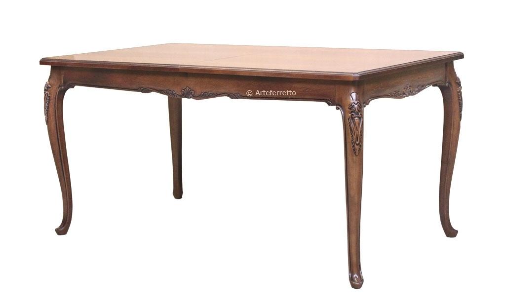 Mesa rectangular tallas en madera de gran valor  160-250 cm