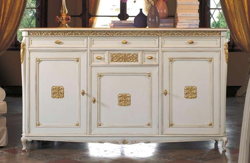 Aparador clásico 3 puertas - pan de oro