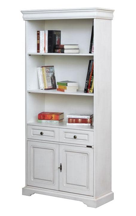 Librería alta estilo Luis Felipe con cajón