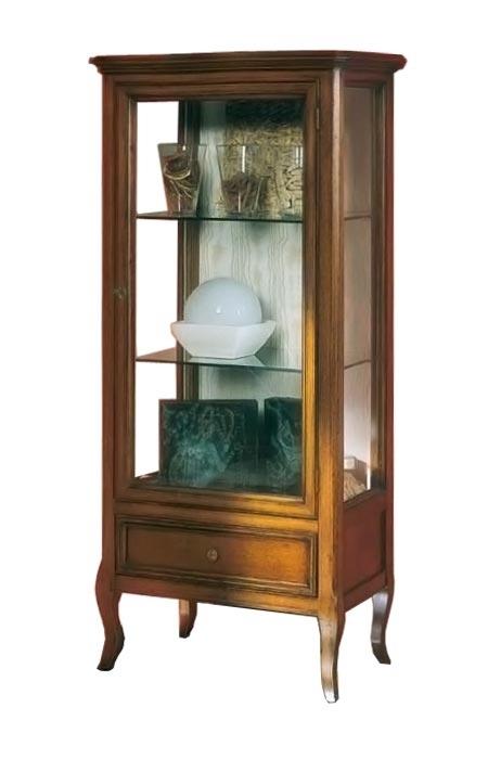 Vitrina vajillero de salón en madera y vidrio