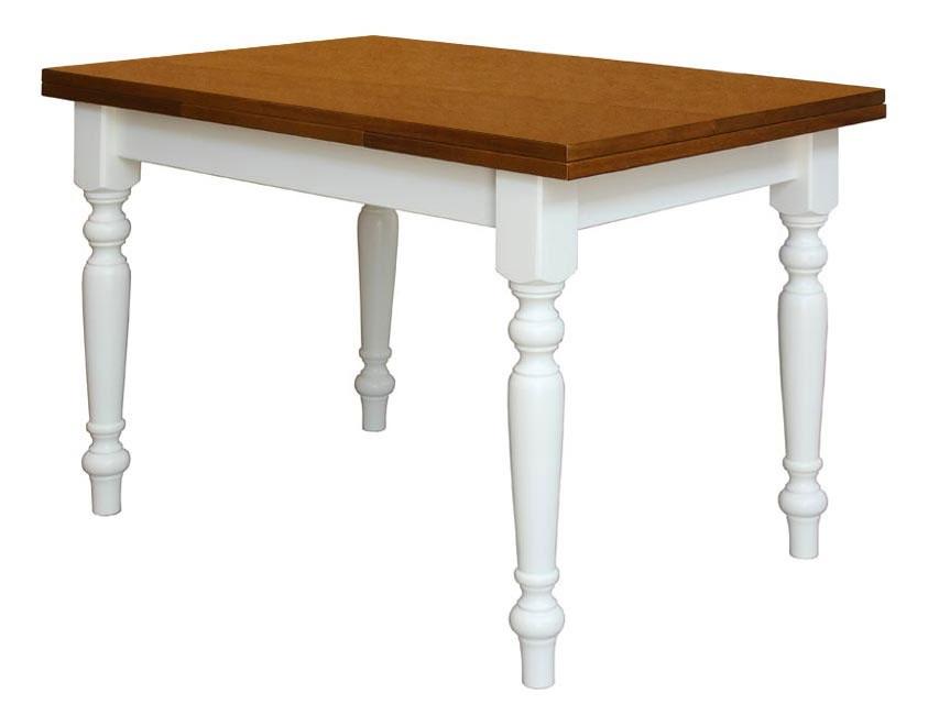 Mesa rectangular bicolor de comedor 120-200 cm