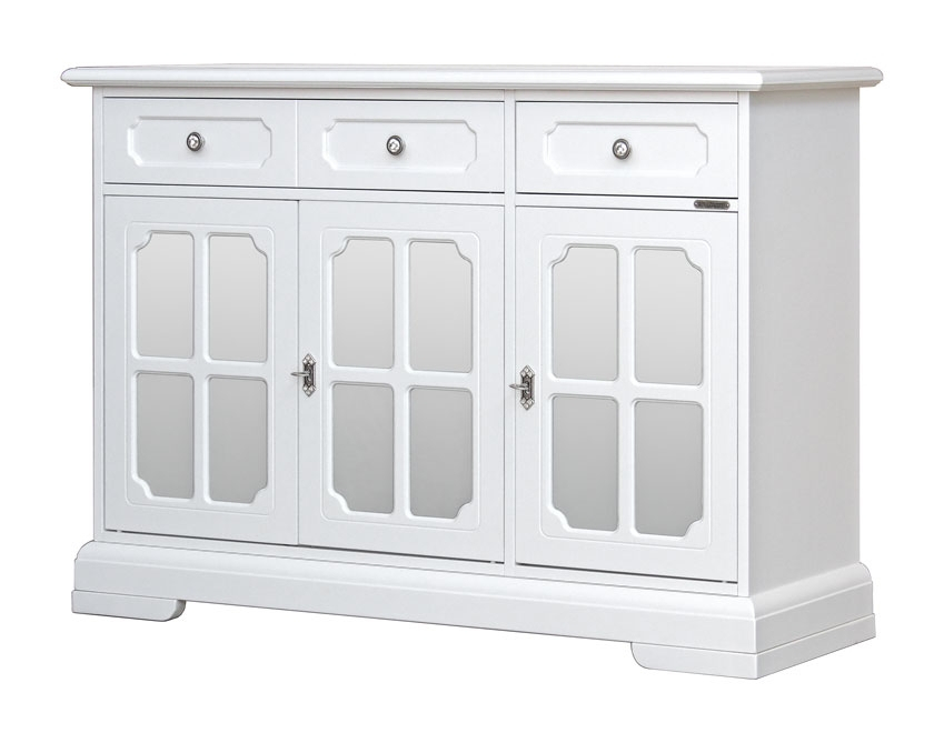 Aparador para salón en madera blanca Luxury