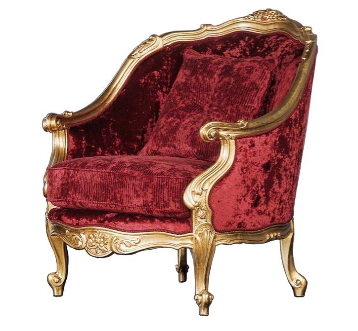 Sillón Luxury Gold madera dorado
