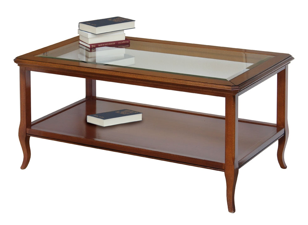 Mesa de centro rectangular tablero en vidrio